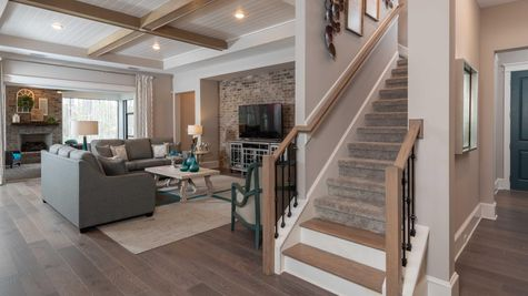 Monroe Model - Family Room Stairs