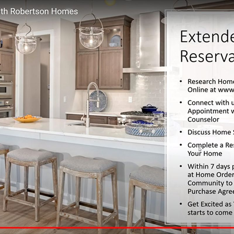 Screenshot of video on Extended Reservations