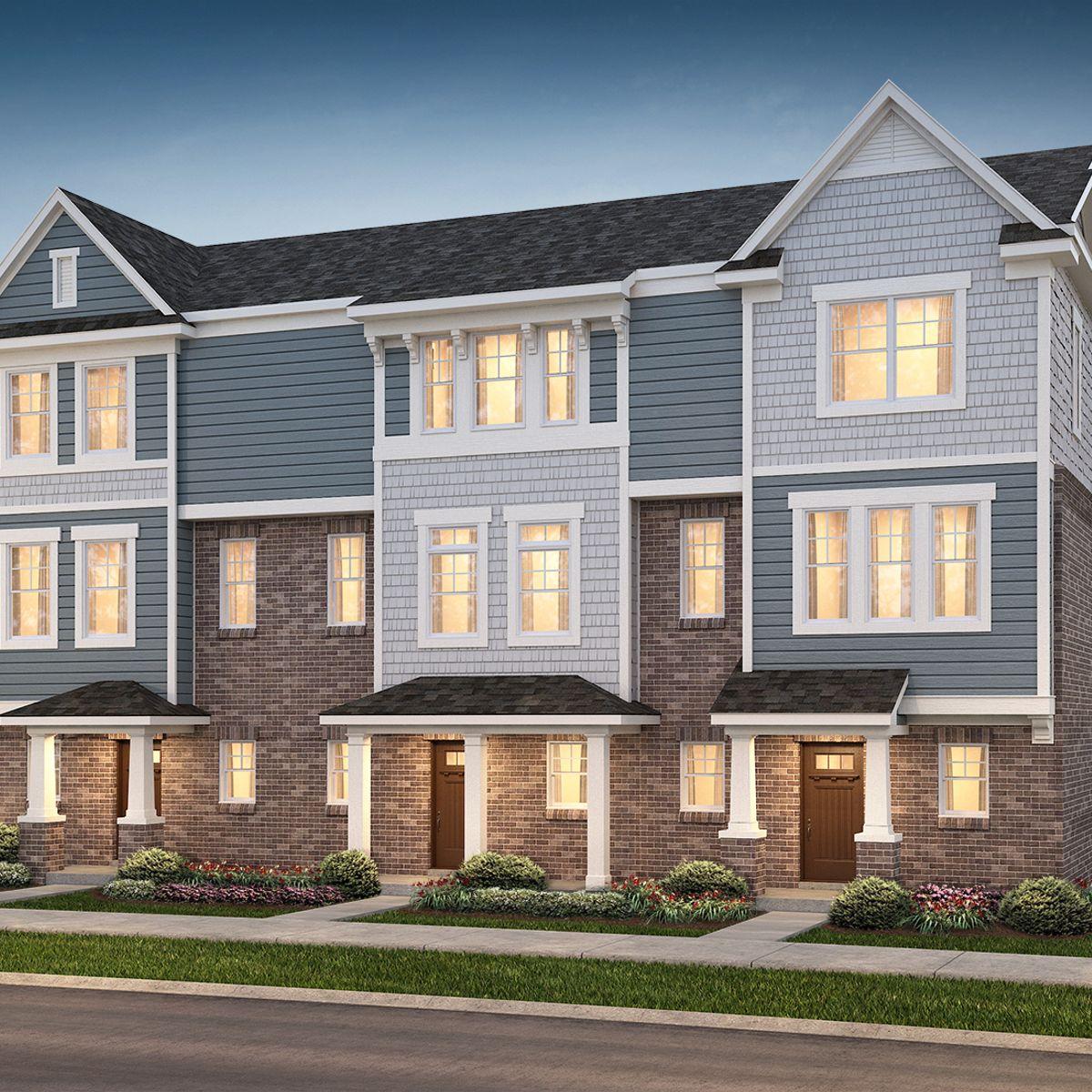3 unit town home building