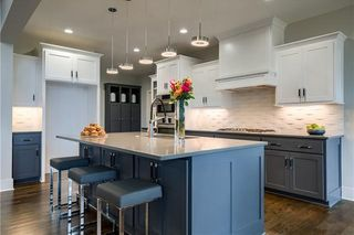 The New Haven 1.5 Story. Kitchen. Pictures are of Previous Model, Not Actual Home. Pictures May Feature Upgrades. Please Contact Listing Agent for Stage of Construction, Upgrades, and Available Buyer Selections.