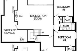 Aspen II Reverse by Rodrock Homes. Lower Level Floor Plan