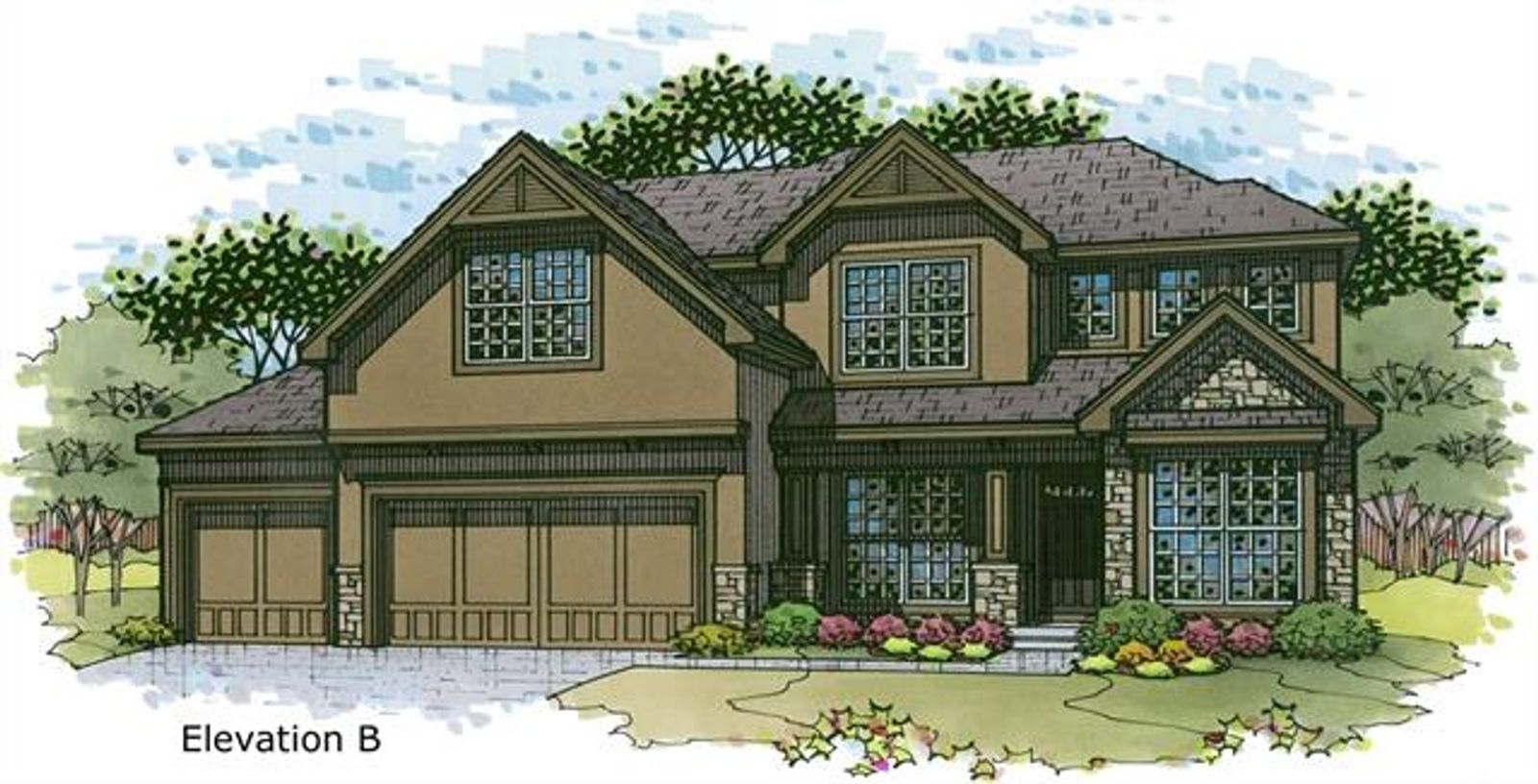 The Irving 2 Story. Lot 70 - 24103 W 124th Terr will be Elevation B. Pictures are of Model, Not Actual Home. Pictures May Feature Upgrades. Please Contact Listing Agent for Stage of Construction, Upgrades, and Available Buyer Selections.