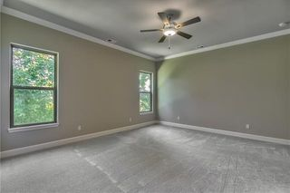 Master Bedroom with Ceiling Fan. Picture is of Actual Home.