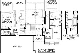 Sonoma Reverse - Main Level Floor Plan