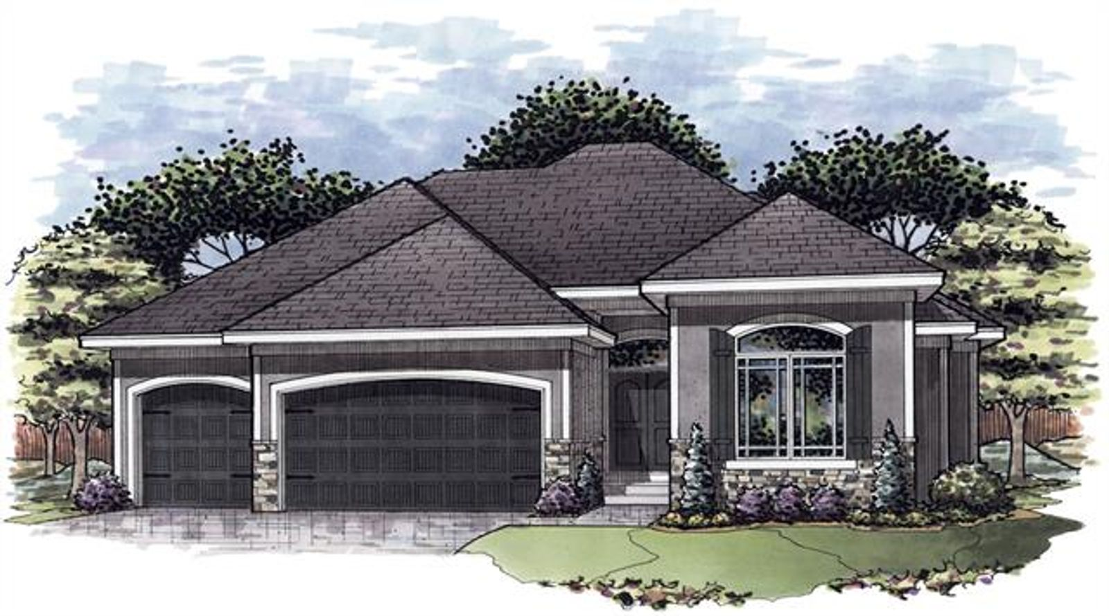 """""""The Karmon II"""" Front Elevation"""