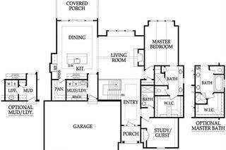 The Aspen II Main Level Floor Plan