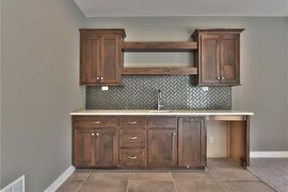 The Sonoma Reverse - Lower Level Bar with Upper and Lower Cabinets and Upgraded Herringbone Tile Backsplash