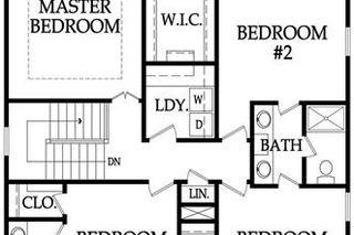 The Durham - Upper Level Floor Plan.