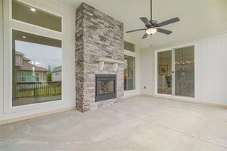 covered patio with see thru fireplace