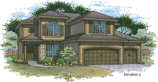 """The """"Madison""""  Front Elevation #3"""