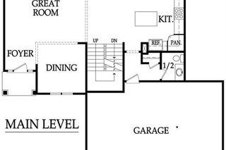 The Madison, 2 Story - Main Level Floor Plan
