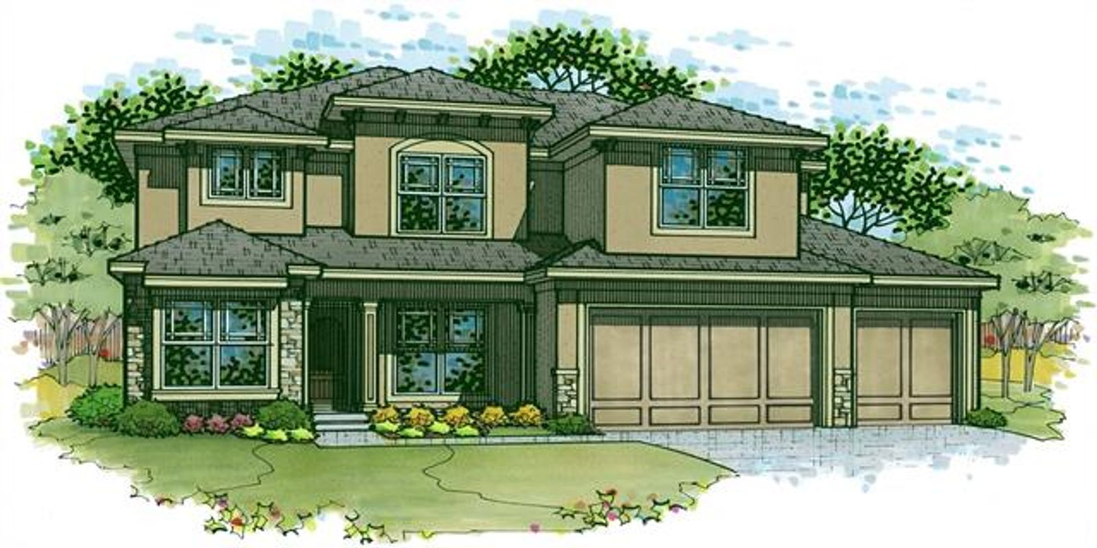 This is Elevation C for the Irving 2 Story which will be built on FVH Lot 218 - 24604 W 126th Ter.
