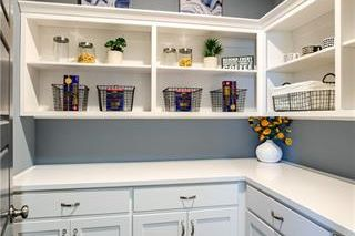 The New Haven 1.5 Story. Walk In Pantry. Pictures are of Previous Model, Not Actual Home. Pictures May Feature Upgrades. Please Contact Listing Agent for Stage of Construction, Upgrades, and Available Buyer Selections.