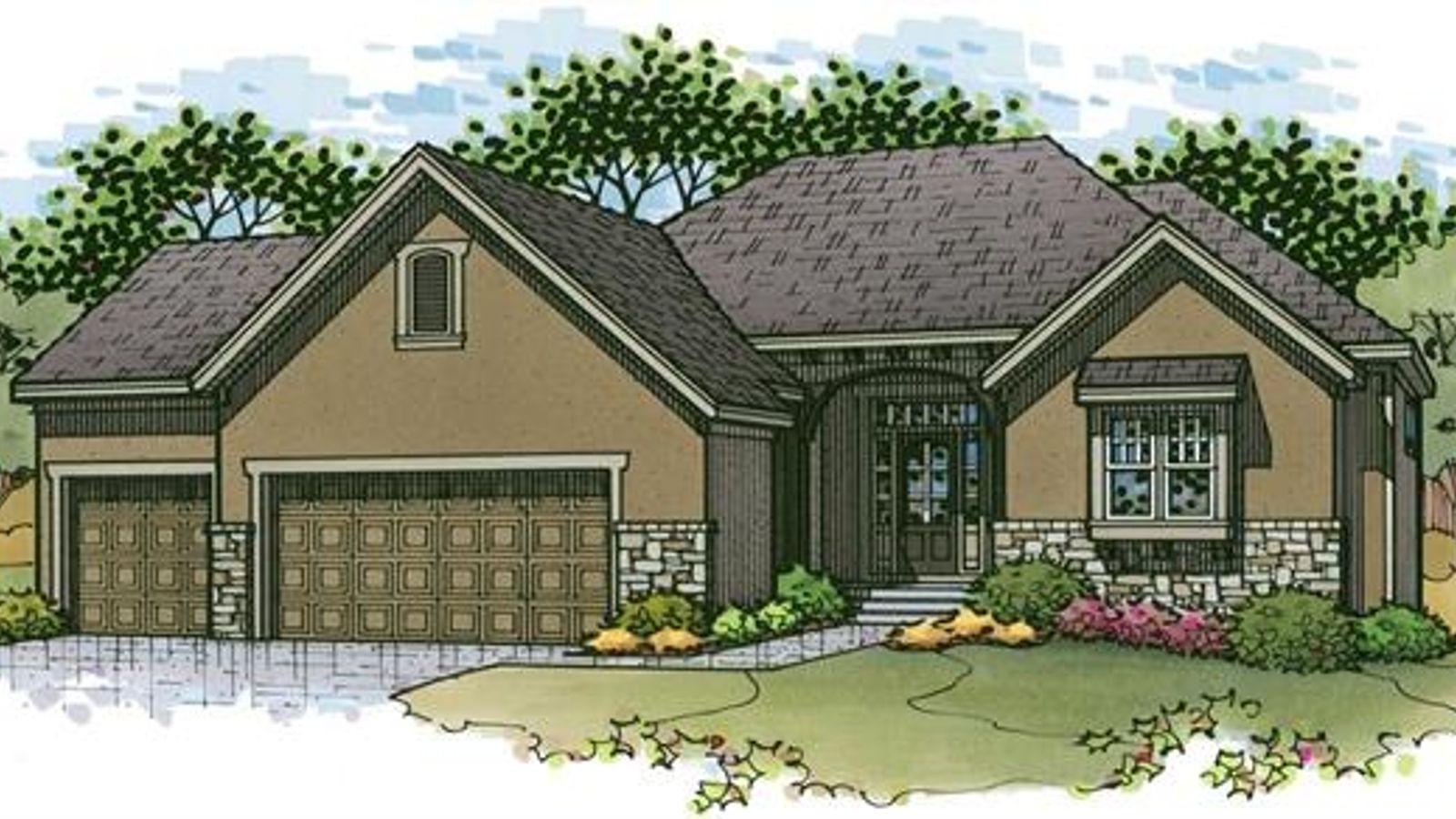 The Sonoma Reverse by Rodrock Homes - Elevation B