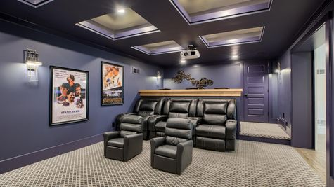Finished basement - theater