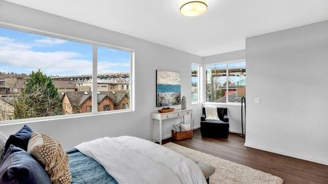 Master Bedroom Sitting Area of 926 N 35th Street in Seattle by Sage Homes Northwest