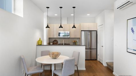 Dining and Kitchen of the Sullivan Townhome at 212A 17th Ave E by Sage Homes Northwest