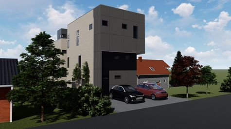 Parking Spaces from Alley of 926 N 35th Street in Fremont by Sage Homes Northwest