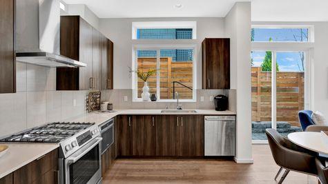 Kitchen Windows of 926 N 35th Street in Seattle by Sage Homes Northwest