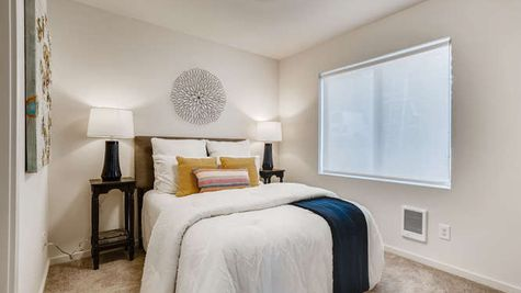 Guest Bedroom on Main at A3 - The Mies at Westbrook in Lynnwood by Sage Homes Northwest