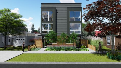 Front Exterior Elevation of 214 17th Ave E by Sage Homes Northwest