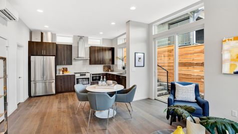 Kitchen and Dining Room of 926 N 35th Street in Seattle by Sage Homes Northwest