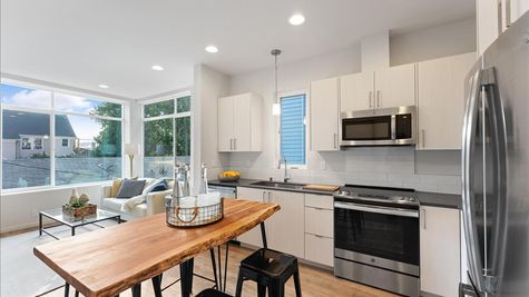 Kitchen 3 of the Nuetra home by Sage Homes Northwest