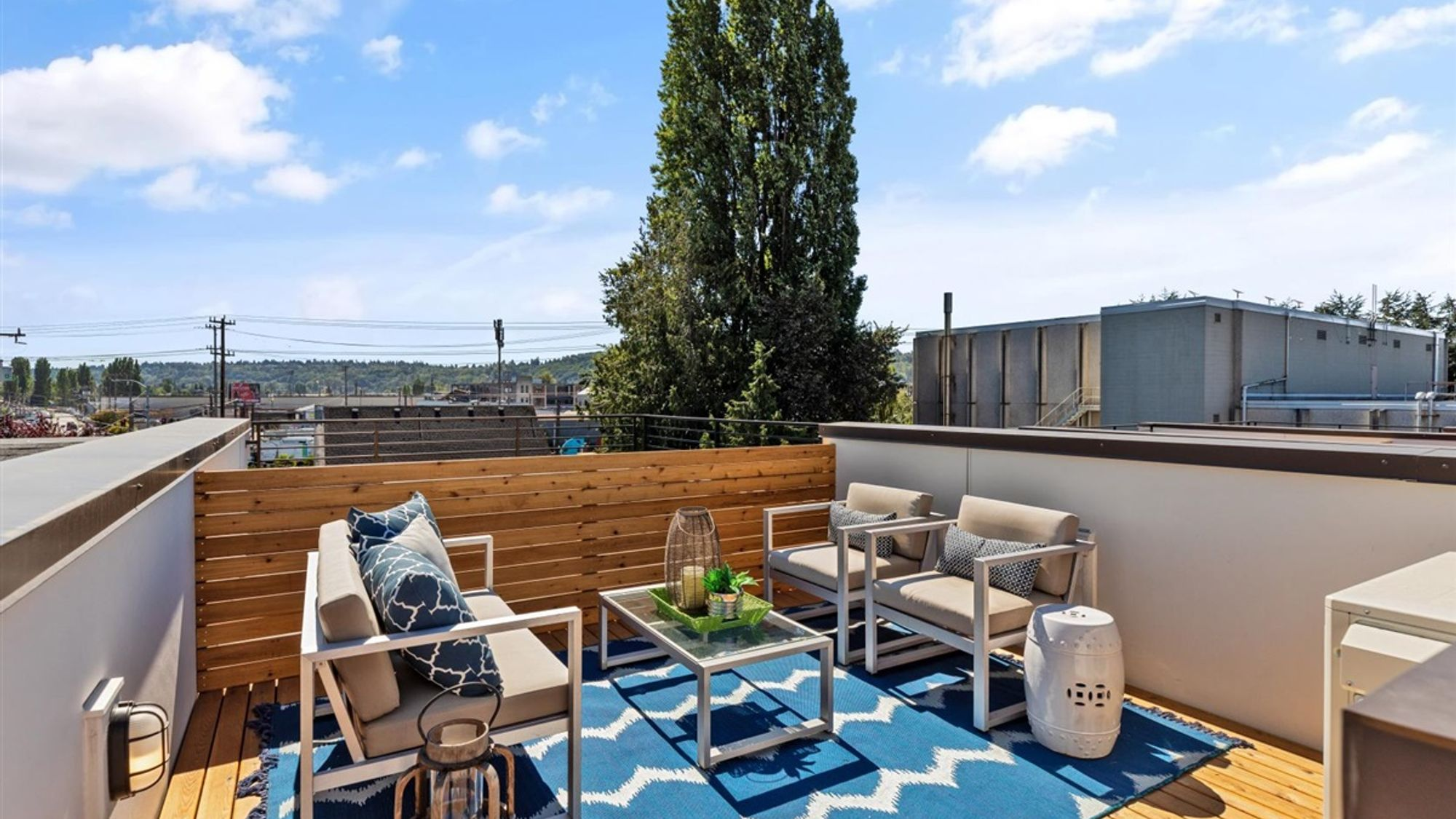 Roof Deck of the Nuetra home by Sage Homes Northwest