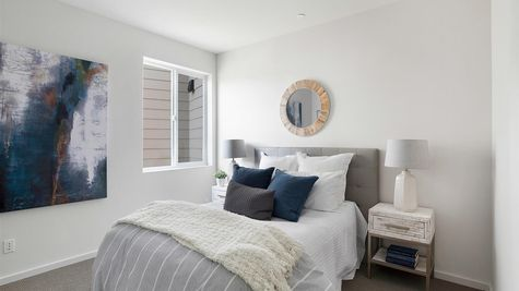 Master Bedroom at the Maya at the Flatiron Station in Hillman City by Sage Homes Northwest