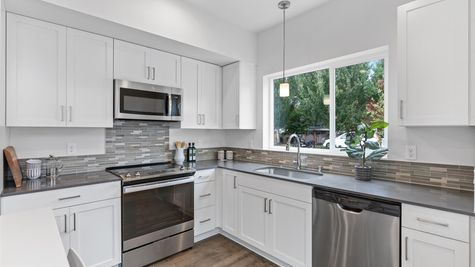 Kitchen Appliances of the Alvar by Sage Homes Northwest