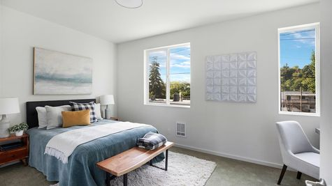 The Second Bedroom at the Wren at the Flatiron Station in Hillman City by Sage Homes Northwest