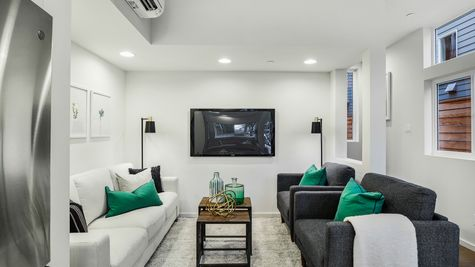 The Foster Media Room at 214 17th Ave E by Sage Homes Northwest