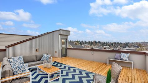 Roof Deck Access of 926 N 35th Street in Seattle by Sage Homes Northwest
