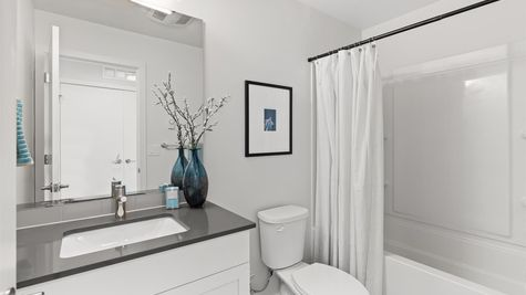 Secondary Bathroom of the Alvar by Sage Homes Northwest
