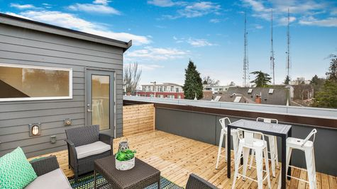 The Foster Roof Deck Access by Sage Homes Northwest
