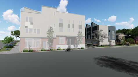 The Street Exterior Elevation of the Lucile Townhomes in Hillman City by Sage Homes Northwest