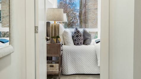The Foster Guest Bedroom by Sage Homes Northwest