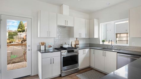 The Kitchen Range at the Wren at the Flatiron Station in Hillman City by Sage Homes Northwest