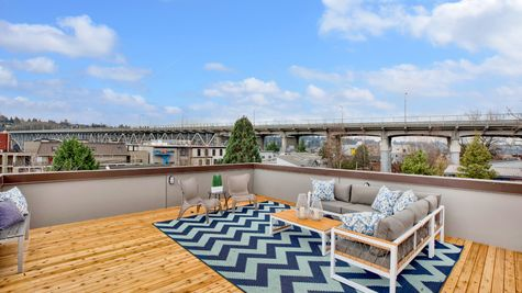 Furnished Roof Deck of 926 N 35th Street in Seattle by Sage Homes Northwest