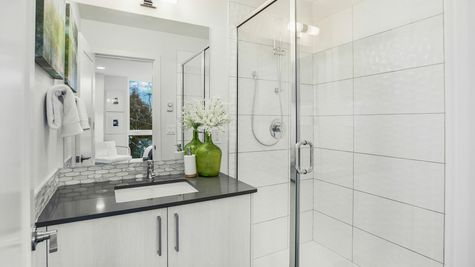 The Foster Master Bathroom at 214 17th Ave E by Sage Homes Northwest