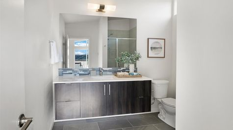 Master Bathroom of the Eero by Sage Homes Northwest