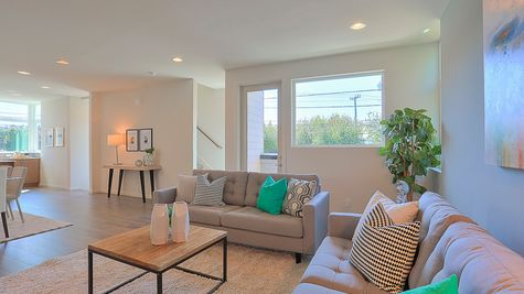 Living Room of 64th in Ballard by Sage Homes Northwest
