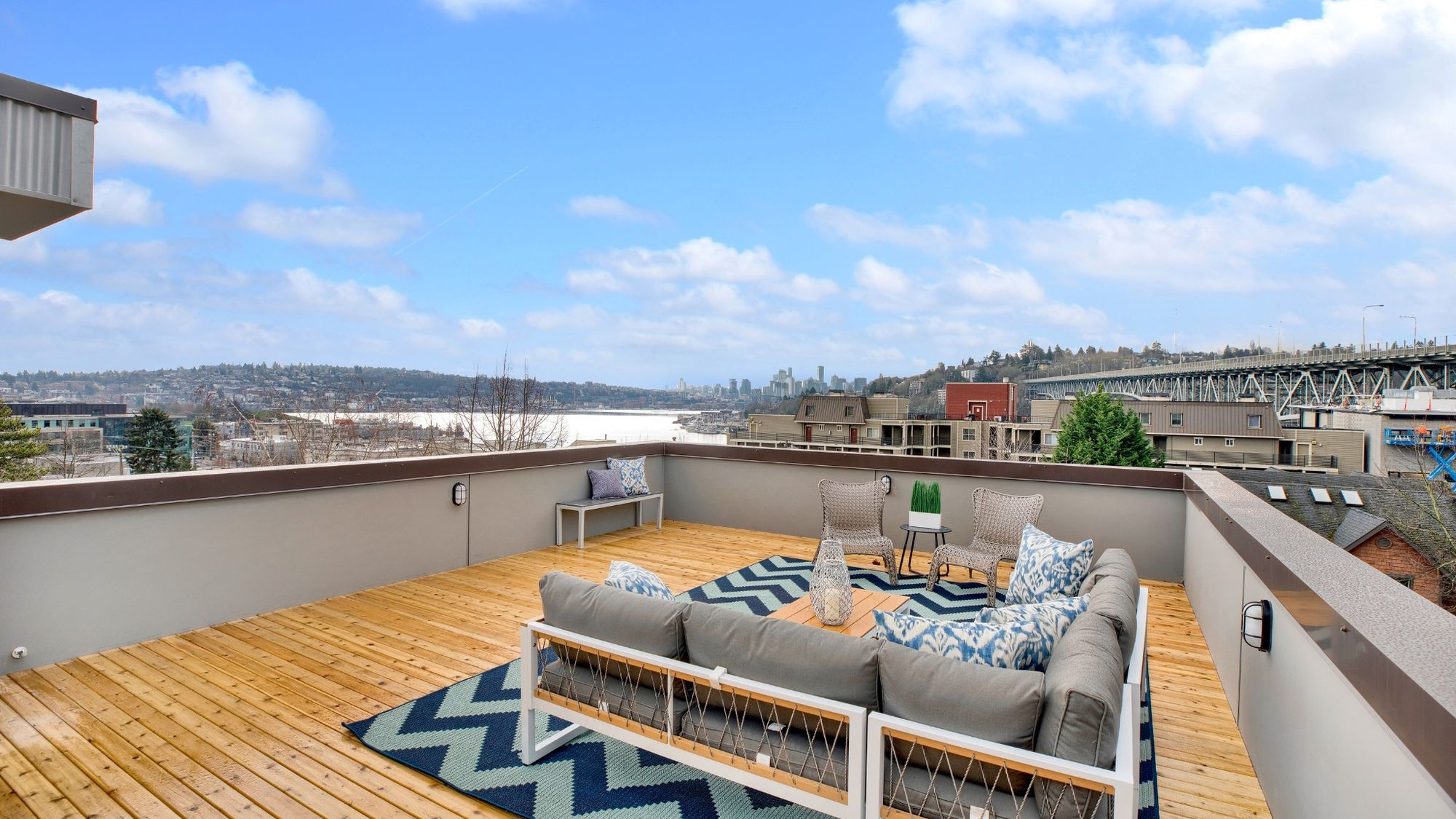 Roof Deck of 926 N 35th Street in Seattle by Sage Homes Northwest