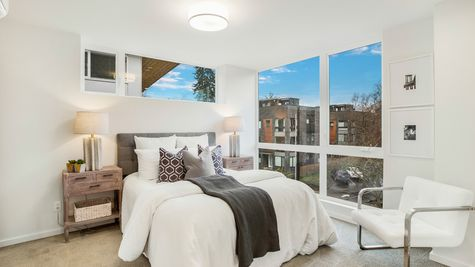 The Foster Guest Bedroom Picture Windows at 214 17th Ave E by Sage Homes Northwest