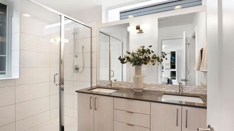 Master Bathroom of the Sullivan Townhome at 212A 17th Ave E by Sage Homes Northwest