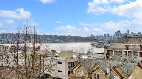 Union Lake of Fremont View from Roof Deck of 926 N 35th Street in Seattle by Sage Homes Northwest