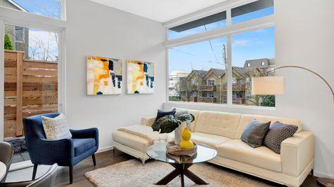 Living Room of 926 N 35th Street in Seattle by Sage Homes Northwest