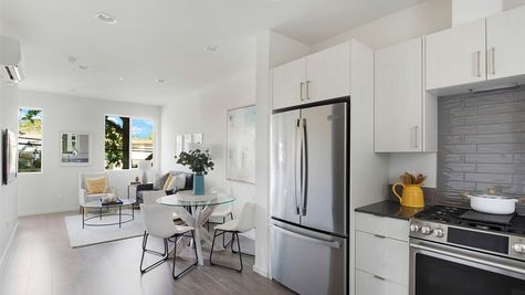 Kitchen and Appliances at the Maya at the Flatiron Station in Hillman City by Sage Homes Northwest