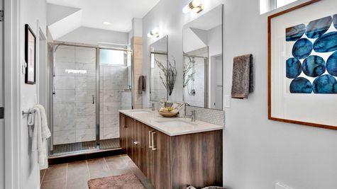 Master Bathroom of 926 N 35th Street in Seattle by Sage Homes Northwest