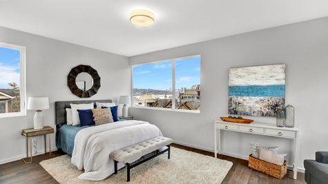 Master Bedroom of 926 N 35th Street in Seattle by Sage Homes Northwest